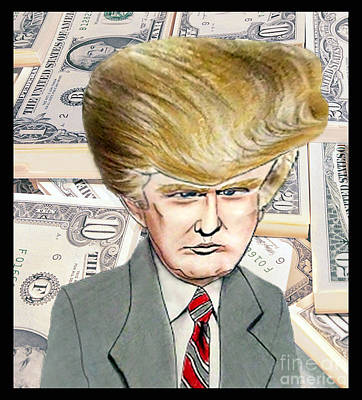 Drawing - Caricature Of Donald Trump by Jim Fitzpatrick