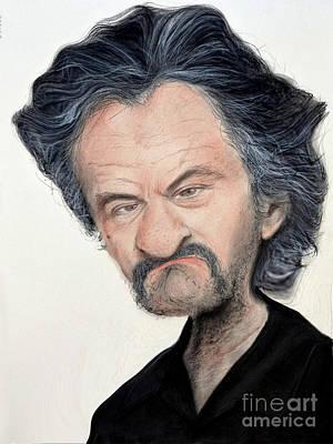 Digital Art - Caricature Of Robert De Niro As Louis Gara In The Movie Jackie Brown by Jim Fitzpatrick