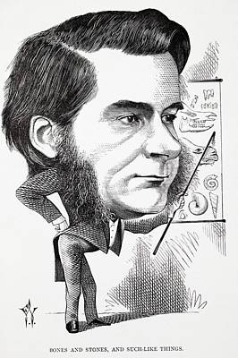 Huxley Photograph - Caricature Of Thomas Huxley by Paul D Stewart