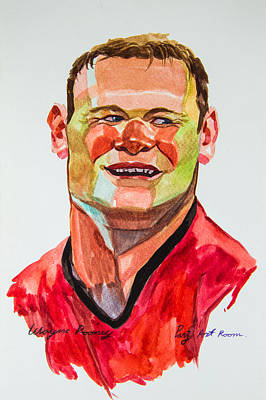 Caricature Wayne Rooney Print by Ubon Shinghasin