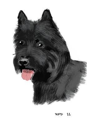 Raiser Digital Art - Carin Terrier by Bob Donner