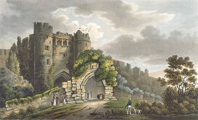 Sightseeing Drawing - Carisbrook Castle, From The Isle by Frederick Calvert