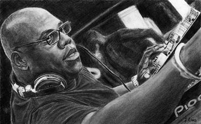 Carl Cox Pencil Drawing Original