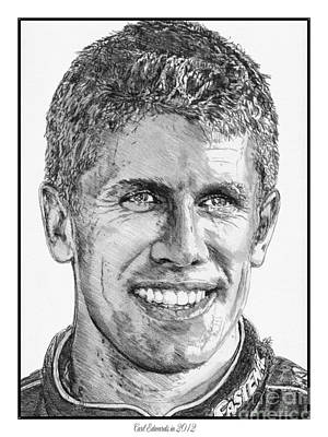 Drawing - Carl Edwards In 2012 by J McCombie