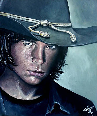 Walking Dead Painting - Carl Grimes by Tom Carlton