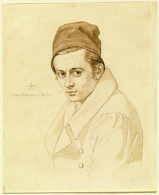 Adolf Drawing - Carl Oesterley, German 1805-1891, Adolf Zimmermann by Litz Collection