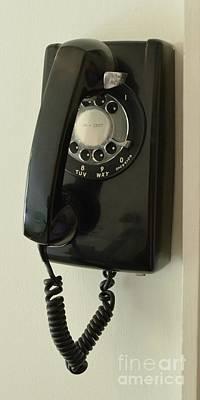 Photograph - Carl Sandburgs Old Wall Phone by Bob Sample