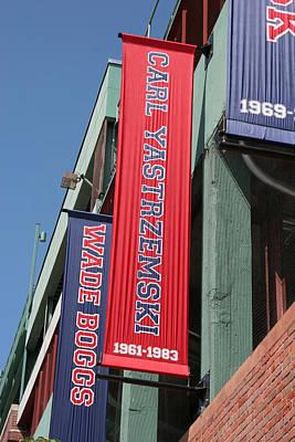 Carl Yastrzemski Photograph - Carl Yastrzemski Banner by Kathy Hutchins