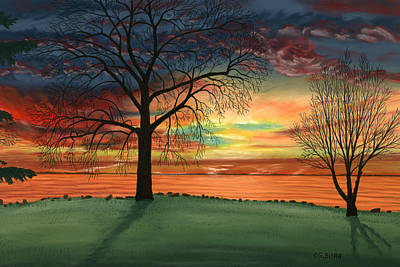 Pastel - Carla's Sunrise by George Burr