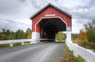 Covered Bridge Photograph - Carleton Bridge In Autumn by Donna Doherty