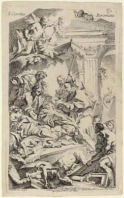 Communion Drawing - Carlo Innocenzo Carlone Italian, 1686 - 1775 by Quint Lox