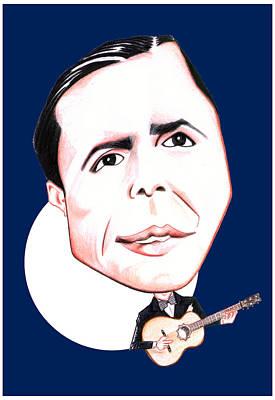 Drawing - Carlos Gardel Illustration by Diego Abelenda