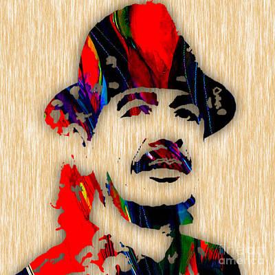 Santana Mixed Media - Carlos Santana Art by Marvin Blaine
