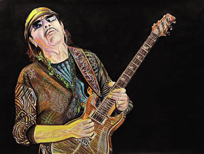 Painting - Carlos Santana by Chris Benice