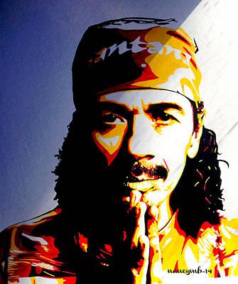 Santana Painting - Carlos Santana. by Nancy Mergybrower