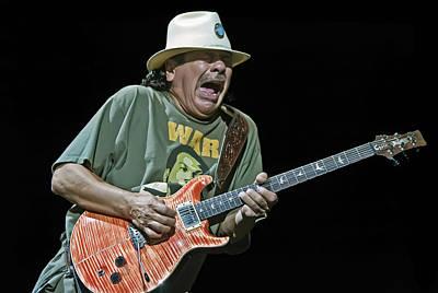 Universal Tone Tour Photograph - Carlos Santana On Guitar 4 by Jennifer Rondinelli Reilly - Fine Art Photography