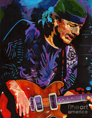 Supernatural.carlos Santana Art Print by Tanya Filichkin