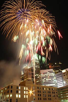Photograph - Charlotte Fireworks by Joseph C Hinson Photography