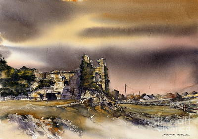 Mixed Media - Carlow Clonmore Castle by Roland Byrne
