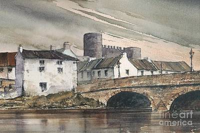 Mixed Media - Carlow  Graigcullen Bridge by Roland Byrne