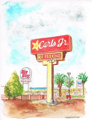 Carl's Jr. In Barstow, California Original by Carlos G Groppa