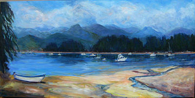Painting - Carls View Rebecca Spit by Nanci Cook