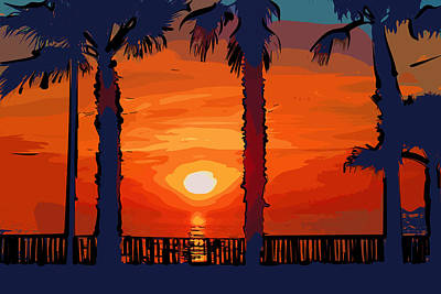 Digital Art - Carlsbad Ca Sunset 1 by Kirt Tisdale
