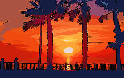 Digital Art - Carlsbad Ca Sunset 2 by Kirt Tisdale