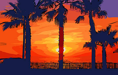 Digital Art - Carlsbad Ca Sunset 3 by Kirt Tisdale
