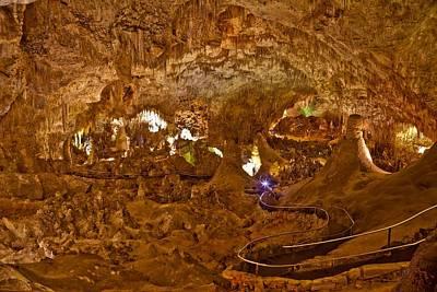 Underground Tour Photograph - Carlsbad Caverns Big Room by Ralph Brannan