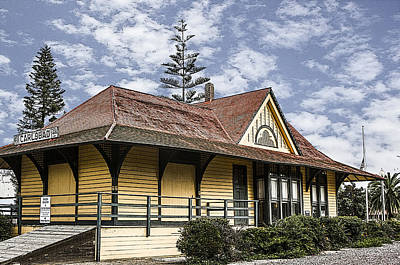 Digital Art - Carlsbad Railroad Depot by Photographic Art by Russel Ray Photos