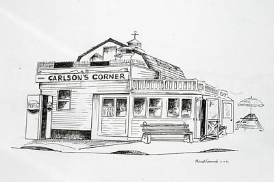 Carlsons Corner Manasquan Art Print