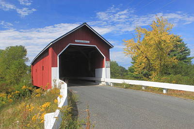 Photograph - Carlton Covered Bridge Monadnock Region by John Burk