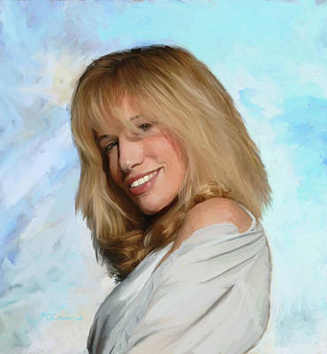 Painting - Carly Simon by GCannon