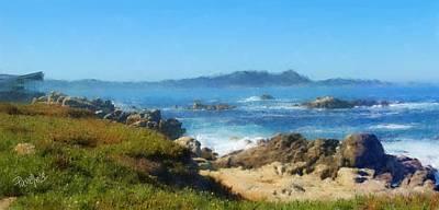 Digital Art - Carmel Bay And Point Lobos by Jim Pavelle