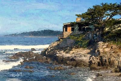 Digital Art - Carmel Bay Beach House by Jim Pavelle