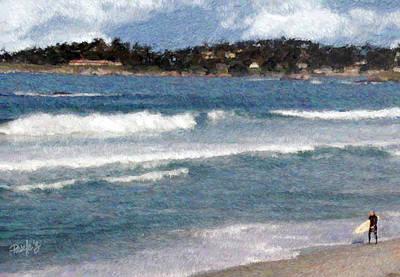 Digital Art - Carmel Bay Surf by Jim Pavelle