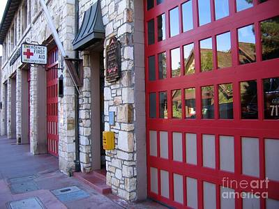 Carmel By The Sea Fire Station Art Print