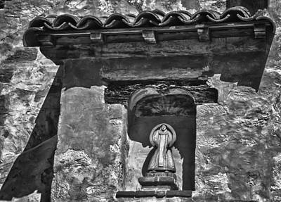 Photograph - Carmel Mission 11 Bw by Ron White