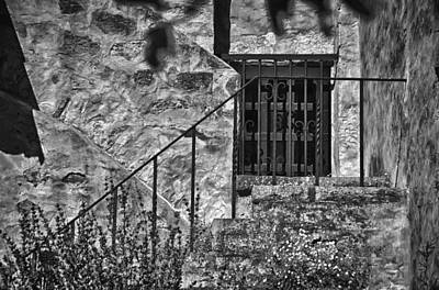 Photograph - Carmel Mission 9 Bw by Ron White