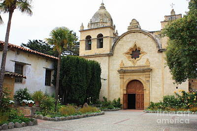 Photograph - Carmel Mission Church by Carol Groenen