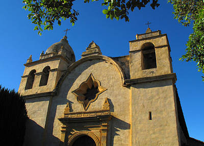 Clouds Rights Managed Images - Carmel Mission Royalty-Free Image by Derek Dean