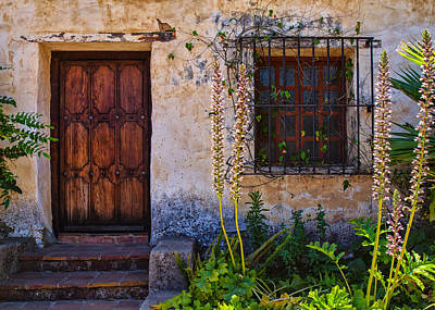 Carmel Mission Living Quarters Art Print