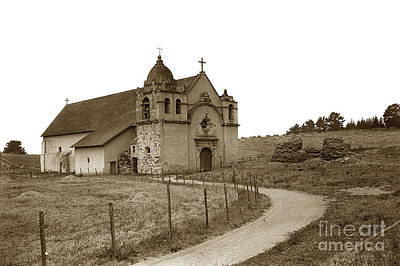 Photograph - Carmel Mission Monterey Co. California Circa 1890 by California Views Mr Pat Hathaway Archives