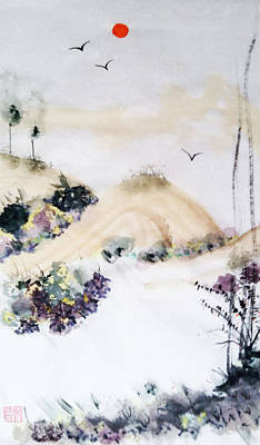 Painting - Carmel Valley La Mesa by Casey Shannon