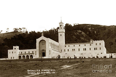 Photograph - Carmelit Monastery Carmel-by-the-sea At San Jose Creek South Of  Carmel 1931 by California Views Archives Mr Pat Hathaway Archives