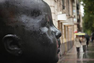 Human Face Photograph - Carmen Awake Street Sculpture by Panoramic Images