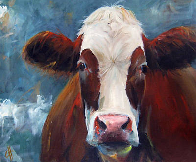 Cow Face Painting - Carmen by Cari Humphry