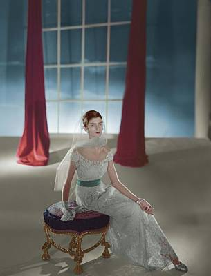 Dells Photograph - Carmen Dell'orefice Sitting On A Stool by Horst P. Horst