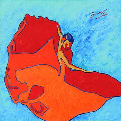 Woman Painting - Carmen Flamenco Dancer by Xueling Zou